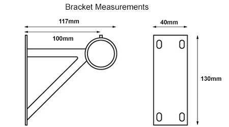 measurements for 28mm neo heavy duty bracket