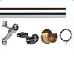 Galleria 35mm Metal Curtain Pole Accessories