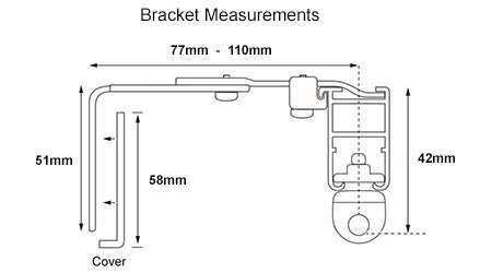 System 30 Extendable Bracket Measurements