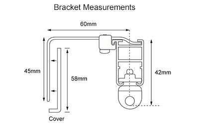 System 30 Standard Bracket Dimentions