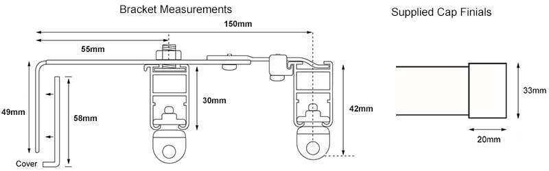 Cameron Fuller Cap Double Track Measurements
