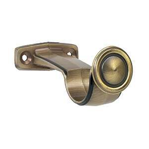Galleria Curtain Pole Centre Bracket Burnished Brass