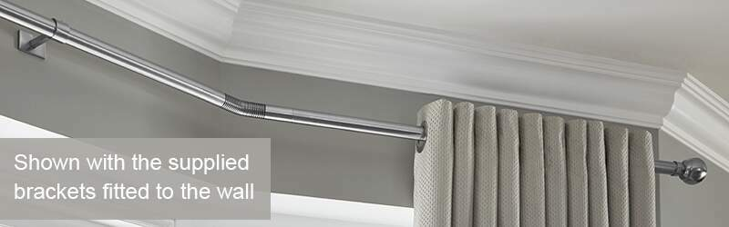 Ceiling Fix Rolls Neo Bay Eyelet Curtain Pole
