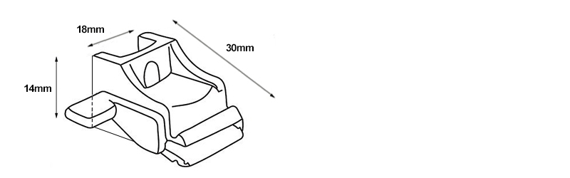 Rolls Superglide Curtain Track Bracket Dimentions