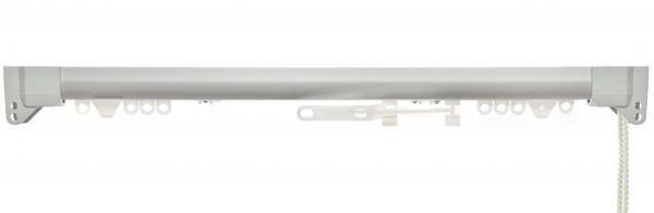 Silent Gliss System 3840 Aluminium Corded Curtain Track – Made to Measure-Silver