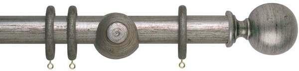 Museum Plain Ball 35mm Wooden Curtain Poles
