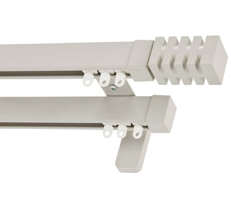 Cameron Fuller Barrel System 30 Hand Bendable Double Curtain Track (Wall Fix)