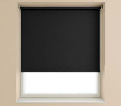Speedy Black Plain Roller Blind (Blackout)