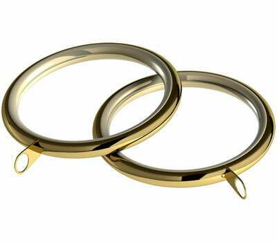 Speedy Standard Lined Curtain Rings for 28mm Curtain Poles (8 per pack)