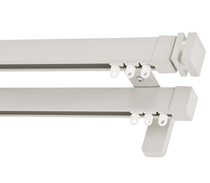 Cameron Fuller Collar System 30 Hand Bendable Double Curtain Track (Wall Fix)