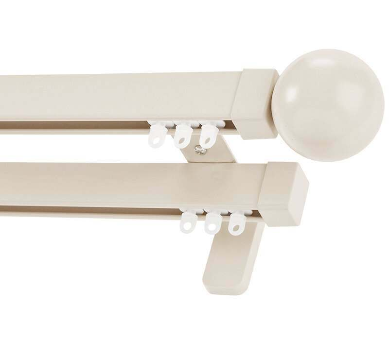 Cameron Fuller Ball System 30 Hand Bendable Double Curtain Track (Wall Fix)