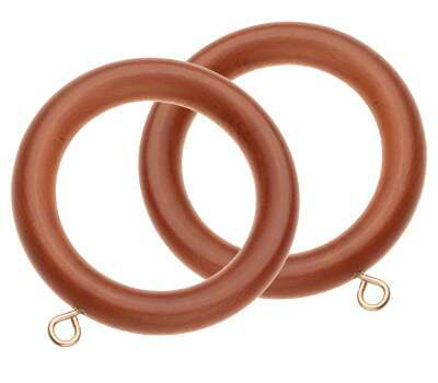 Swish Naturals Wooden Curtain Rings for 35mm Curtain Poles (6 per pack)