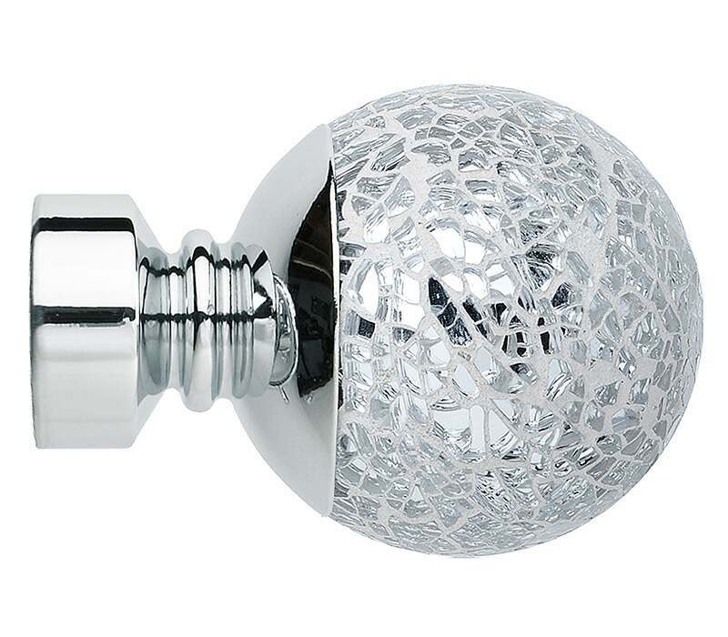 Rolls Neo Style Mosaic Ball 28mm Curtain Pole Finials (Pair)