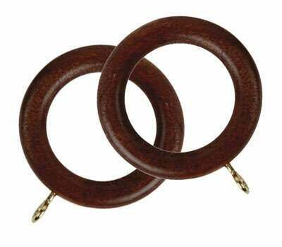Rolls Woodline Curtain Rings for 28mm Curtain Poles (4 per pack)