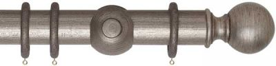 Museum Plain Ball 55mm Wooden Curtain Poles