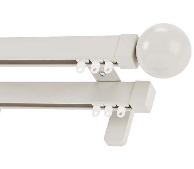 Cameron Fuller Ball System 30 Double Curtain Track (Wall Fix)