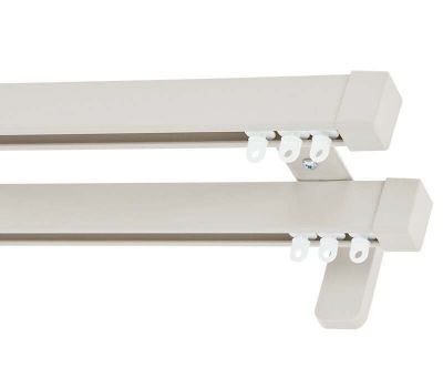 Cameron Fuller Cap System 30 Hand Bendable Double Curtain Track (Wall Fix)