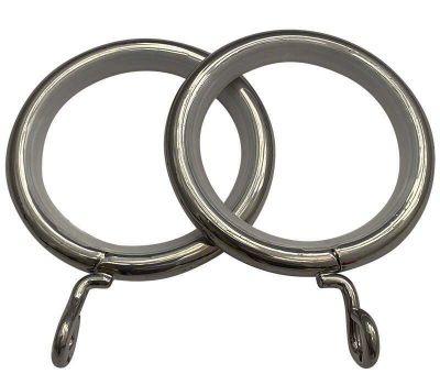 Cameron Fuller Metal Curtain Rings for 32mm Curtain Poles (6 per pack)