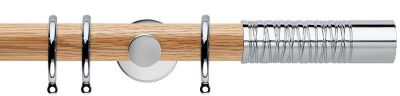 Rolls Neo Premium Wired Barrel 35mm Wooden Curtain Poles