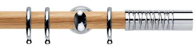 Rolls Neo Premium Wired Barrel 28mm Wooden Curtain Poles