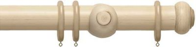 Rolls Modern Country Button 55mm Wooden Curtain Pole
