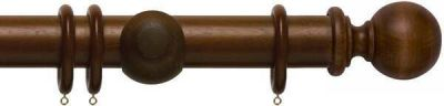 Rolls Modern Country Ball 45mm Wooden Curtain Pole