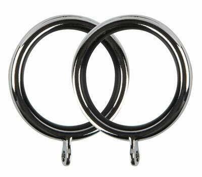 Galleria Metal Curtain Rings for 35mm Poles (6 per pack)