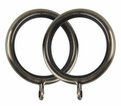 Galleria Metal Curtain Rings for 35mm Poles (6 per pack)