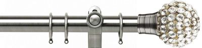 Galleria Clear Jewelled Cage 35mm Metal Curtain Pole