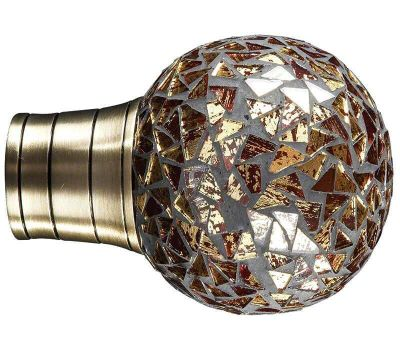 Galleria Gold Mozaic Ball Finial for 35mm Curtain Poles