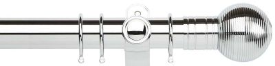 Galleria Ribbed Ball 50mm Metal Curtain Pole