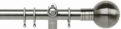 Galleria Ribbed Ball Metal 35mm Curtain Poles