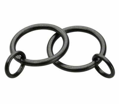 Cameron Fuller Metal Curtain Rings for 19mm Curtain Poles (6 per pack)