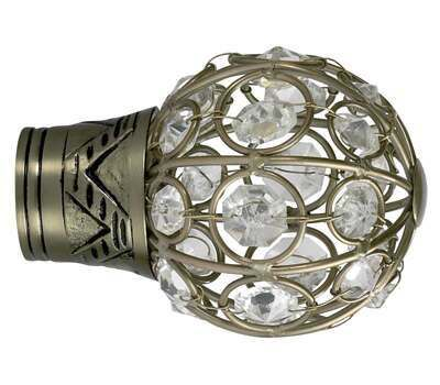 Galleria Jewelled Cage Finial for 35mm Curtain Poles