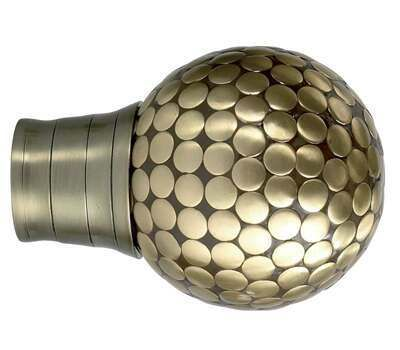 Galleria Large Flat Stud Finial for 35mm Curtain Poles