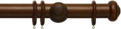Rolls Modern Country Button 45mm Wooden Curtain Pole