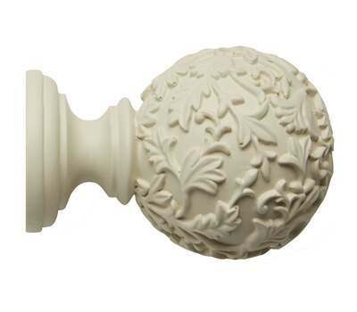 Rolls Modern Country Floral Ball Finial for 45mm Curtain Poles