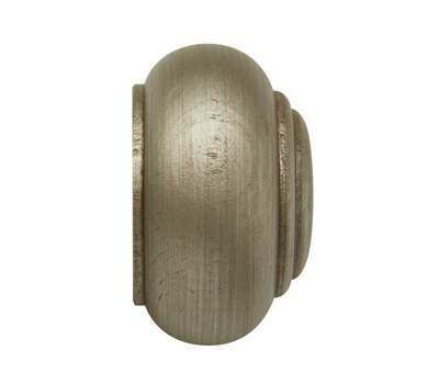 Rolls Modern Country Button Finial for 45mm Curtain Poles
