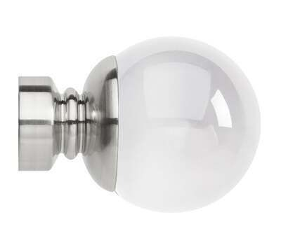 Rolls Neo Premium Clear Ball Finials for 28mm Curtain Poles (Pair)