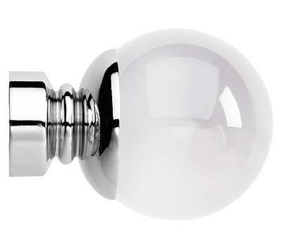 Rolls Neo Premium Clear Ball Finials for 35mm Curtain Poles (Pair)