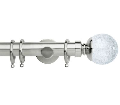 Rolls Neo Style 35mm Cracked Glass Ball Metal Curtain Pole