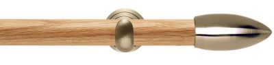 Rolls Neo Bullet 28mm Wooden Eyelet Curtain Pole