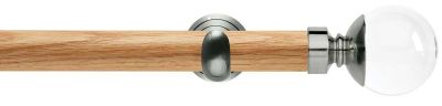 Rolls Neo Premium Clear Ball 28mm Wooden Eyelet Curtain Pole