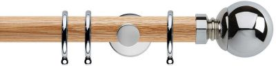 Rolls Neo Ball 35mm Wooden Curtain Poles