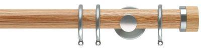 Rolls Neo Oak Stud 35mm Wooden Curtain Poles