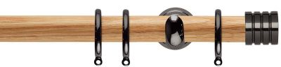 Rolls Neo Stud 28mm Wood Curtain Pole