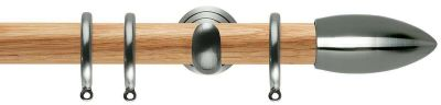 Rolls Neo Bullet Wooden 28mm Curtain Poles