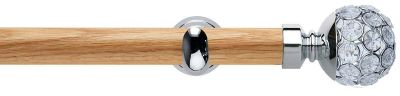 Rolls Neo Style Jewelled Ball Wooden 28mm Eyelet Curtain Poles
