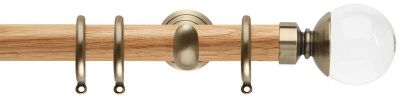 Rolls Neo Premium Clear Ball 28mm Wooden Curtain Pole