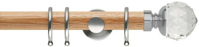 Rolls Neo Premium Clear Faceted Ball 35mm Wood Curtain Pole